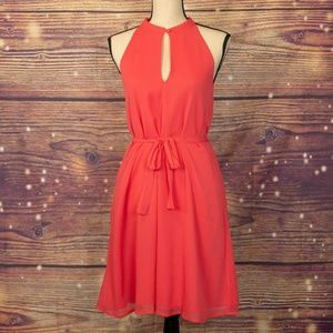 French Connection A-Line Waist Tie Dress Size 4